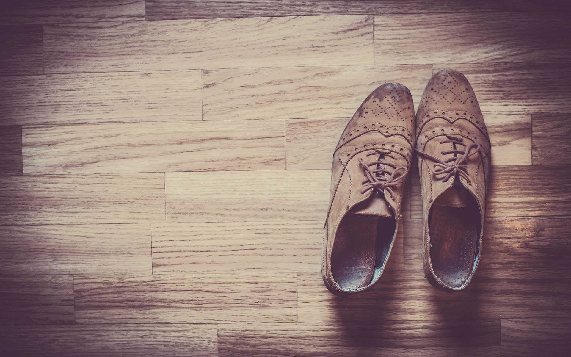 chaussures vintage richelieu